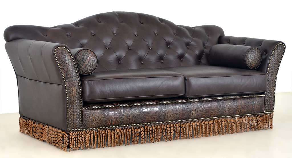 western leather sofa stockman western leather sofa