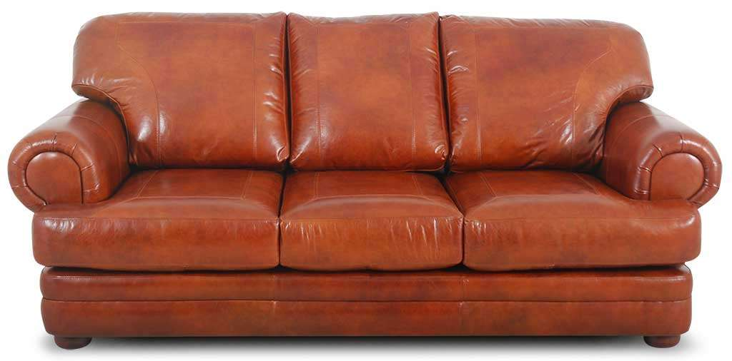 orange leather sofa roselawnlutheran. Black Bedroom Furniture Sets. Home Design Ideas