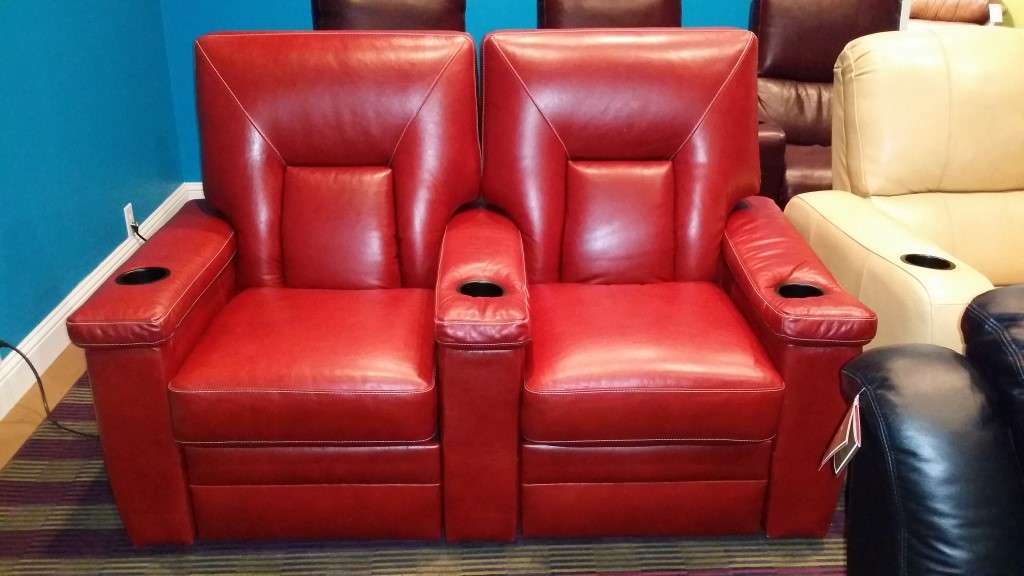 Grapevine Store Row of 2 Pushback Media Seats & Floor Samples Sale u2039u2039 The Leather Sofa Company islam-shia.org