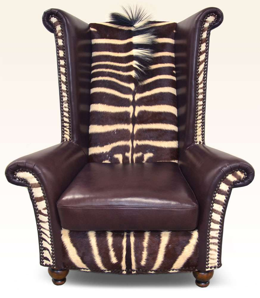 Leather Furniture Company: Safari Furniture Collection King Chair Zebra ‹‹ The