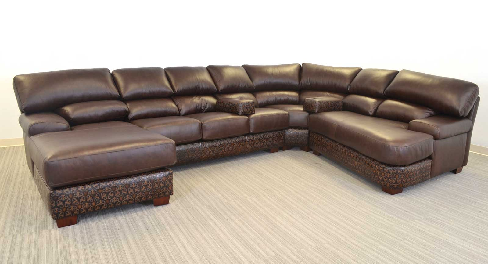 Right Arm Chaise Armless Sofa Pie Left Arm Piano Loveseat Two  sc 1 st  The Leather Sofa Company : sofa with two chaise - Sectionals, Sofas & Couches