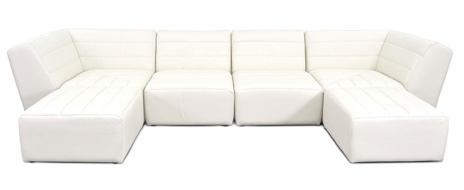 Armless chair and ottoman - 2 Corners 2 Armless Chairs 2 Ottomans