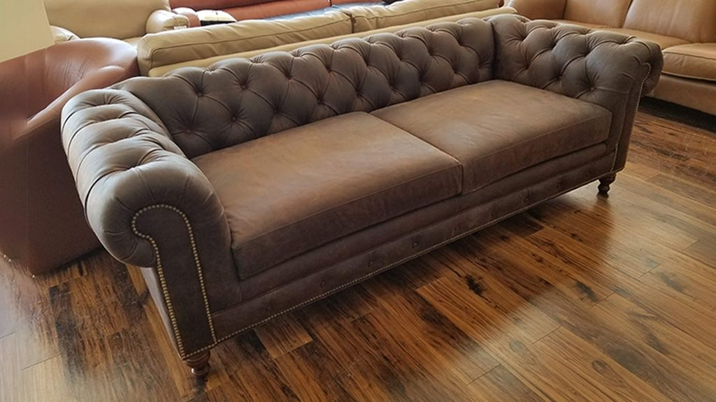 Outlet Kensington Sofa 2-seat Rustic Brown ‹‹ The Leather Sofa Company