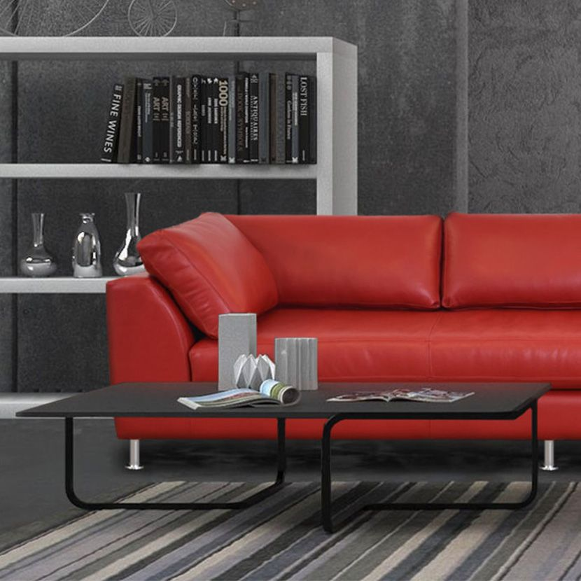 Home The Leather Sofa Company, Dark Red Color Leather Sofa