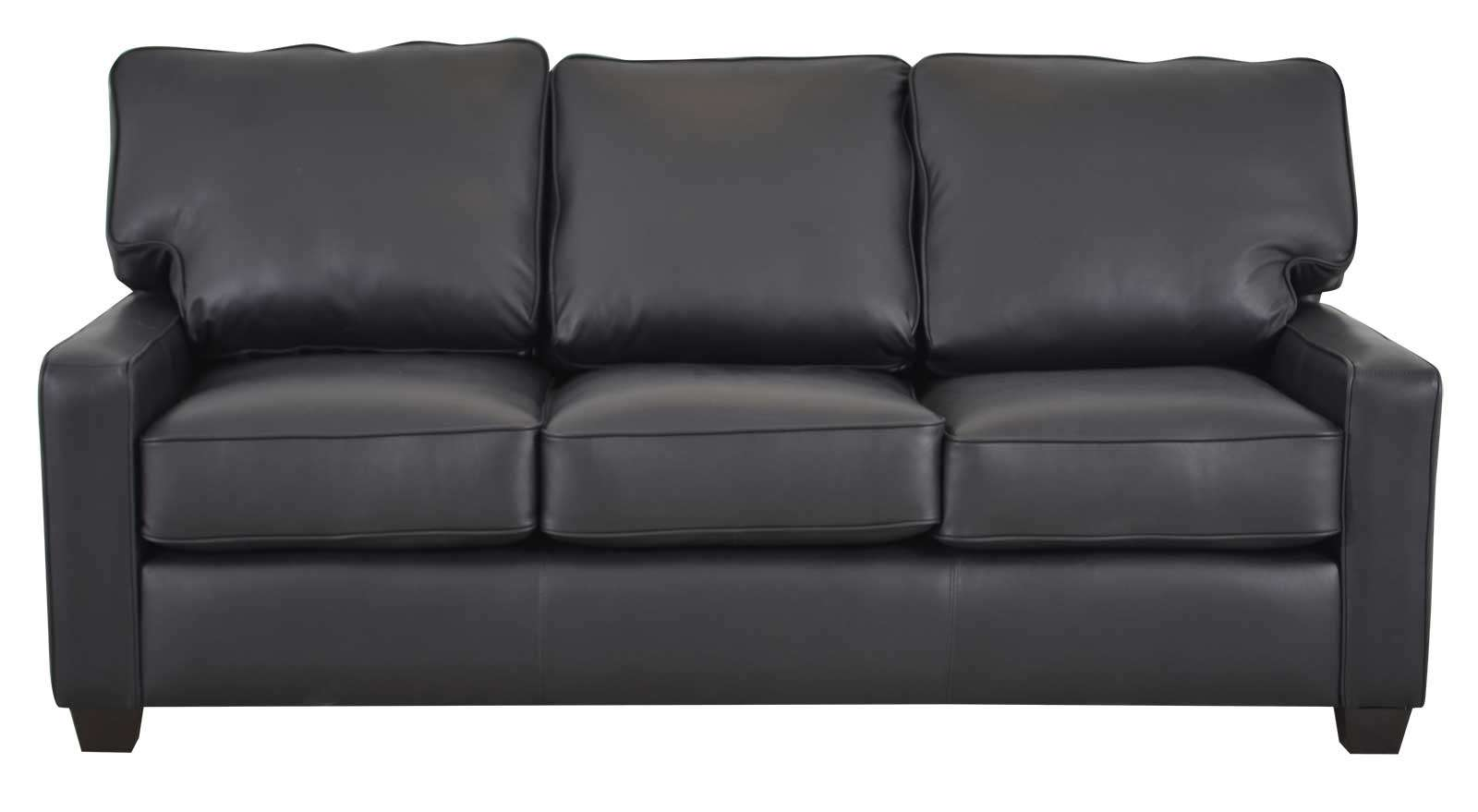 The Black Leather Sofa