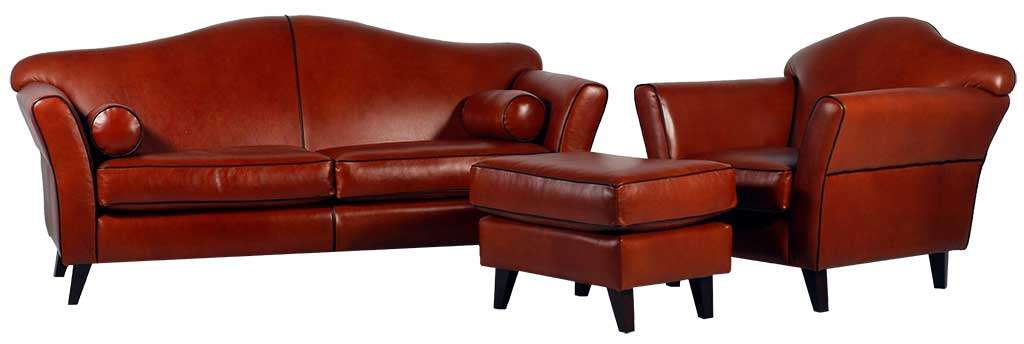 High Quality Leather Library Furniture