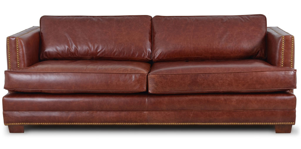 small black leather corner sofa