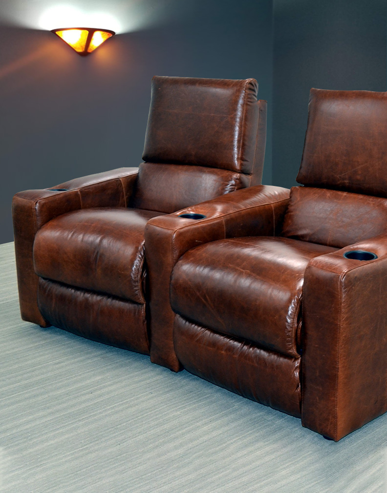 Genial Leather Home Theater Seating