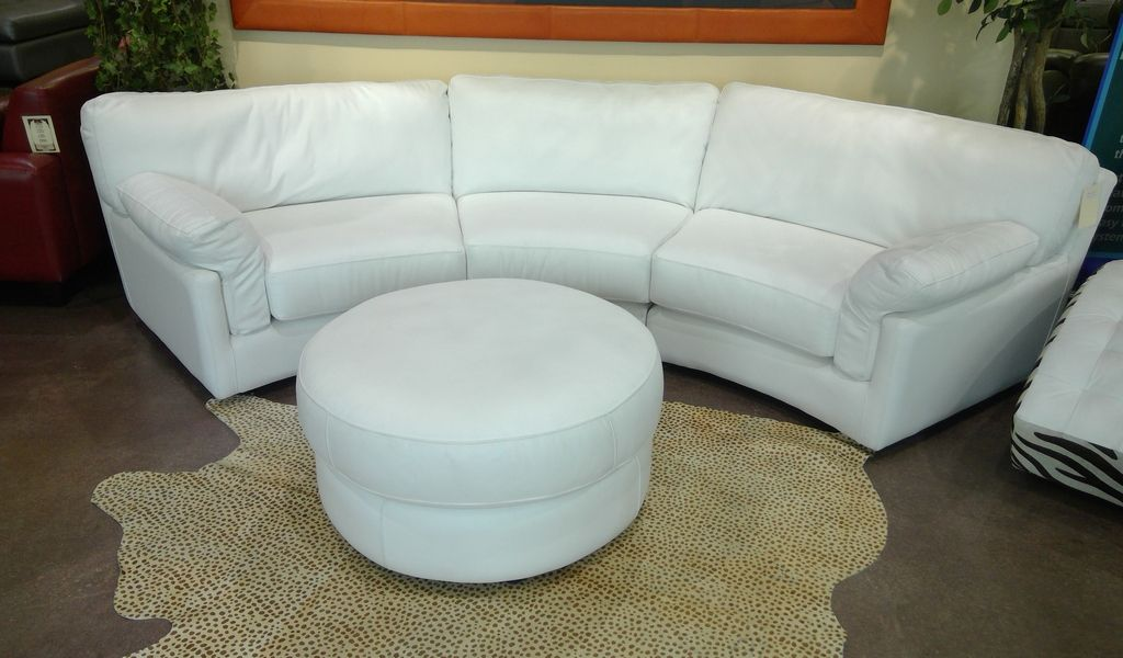 Fort Worth Oasis 3pc Curved Sofa With 36 Round Ottoman