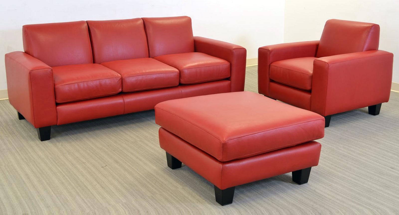 Elegante Sofa 3 Seat Chair Square Ottoman