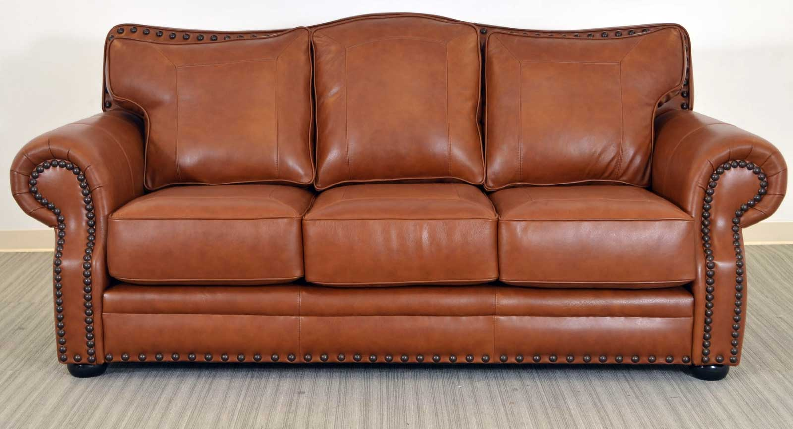 Kennedy Sofa The Leather Sofa Company ~ Leather Sofa With Nailheads