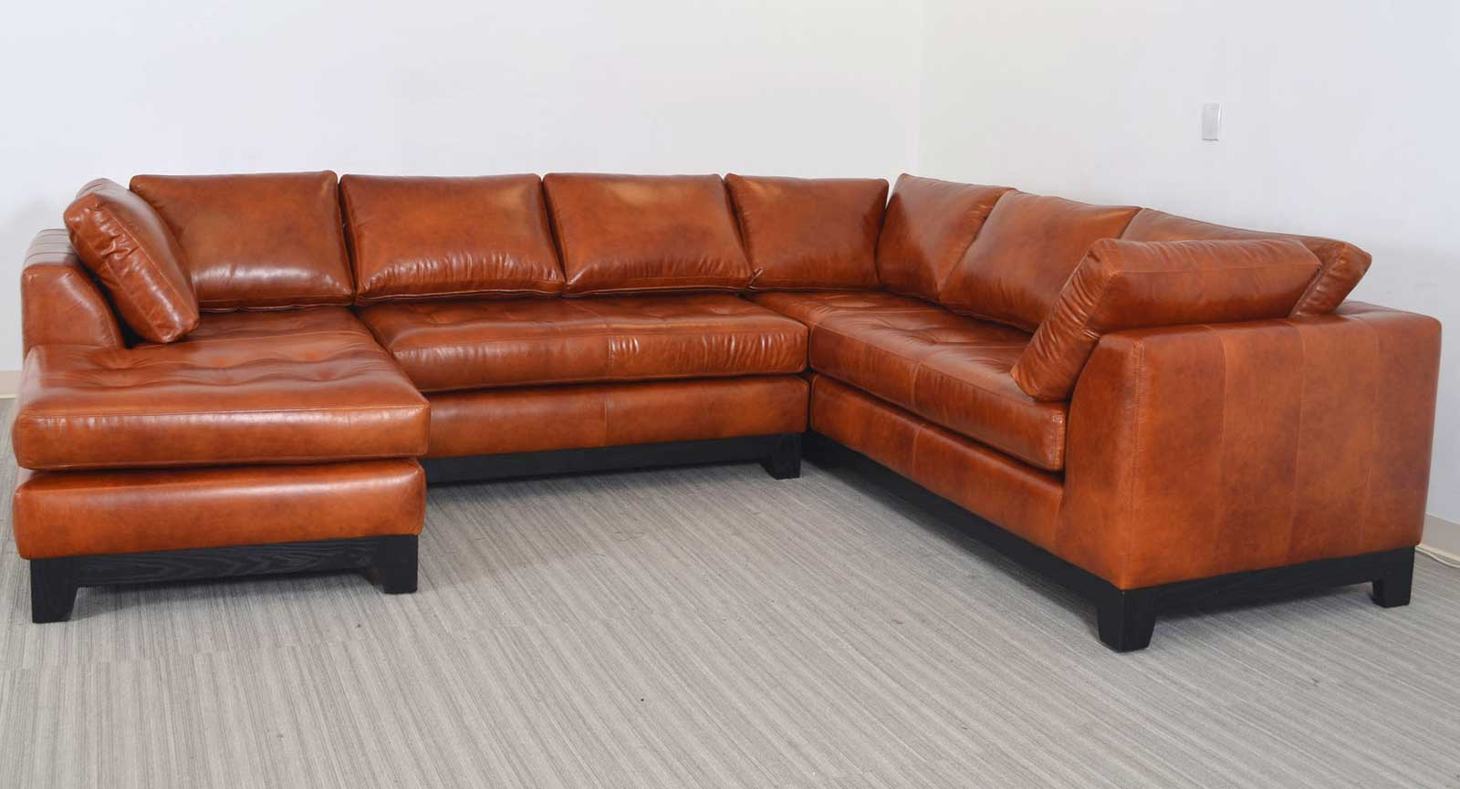 Corner Side Chaise Armless Loveseat Sofa