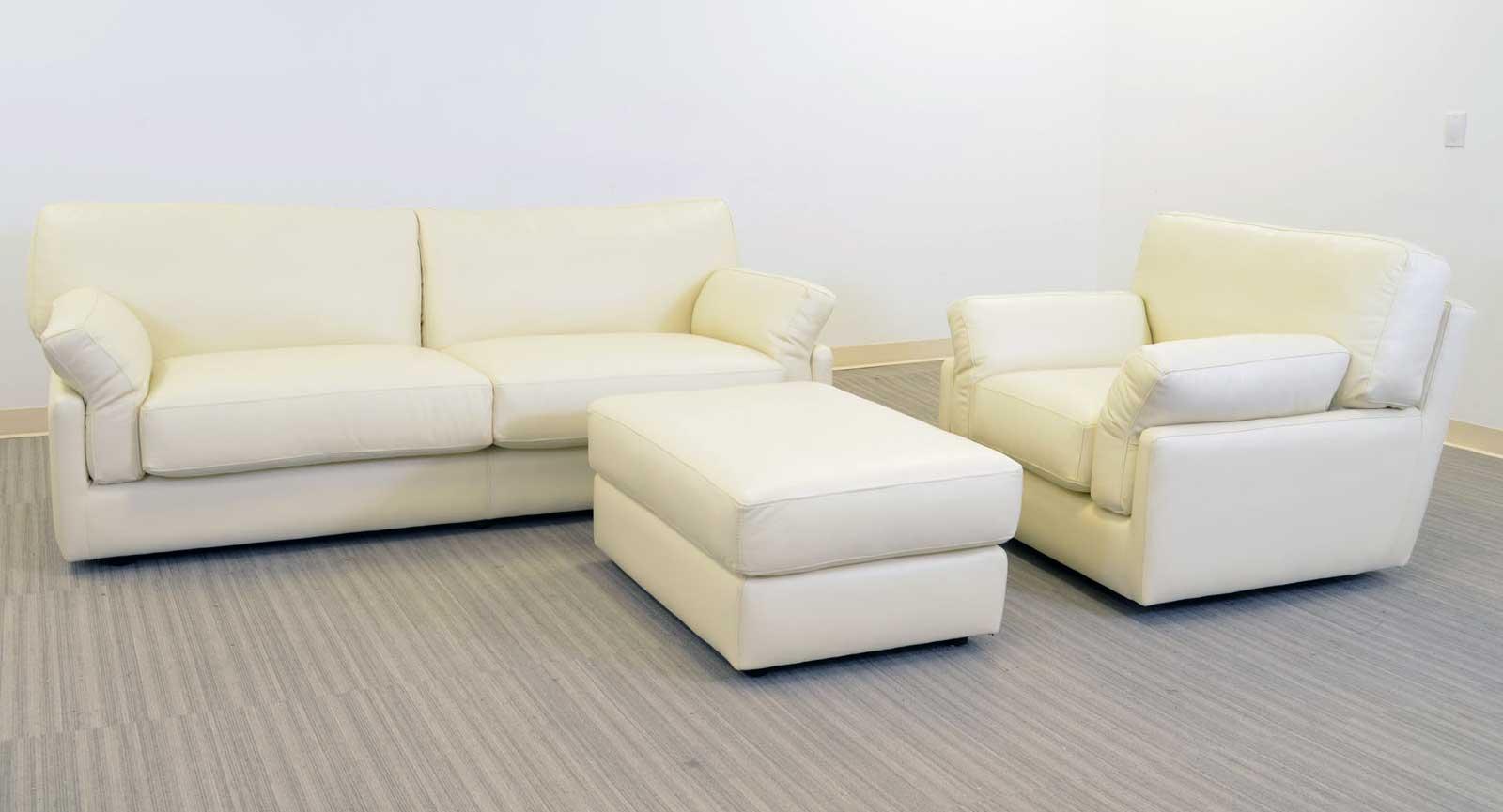 Two Cushion Sofa Chair Ottoman A