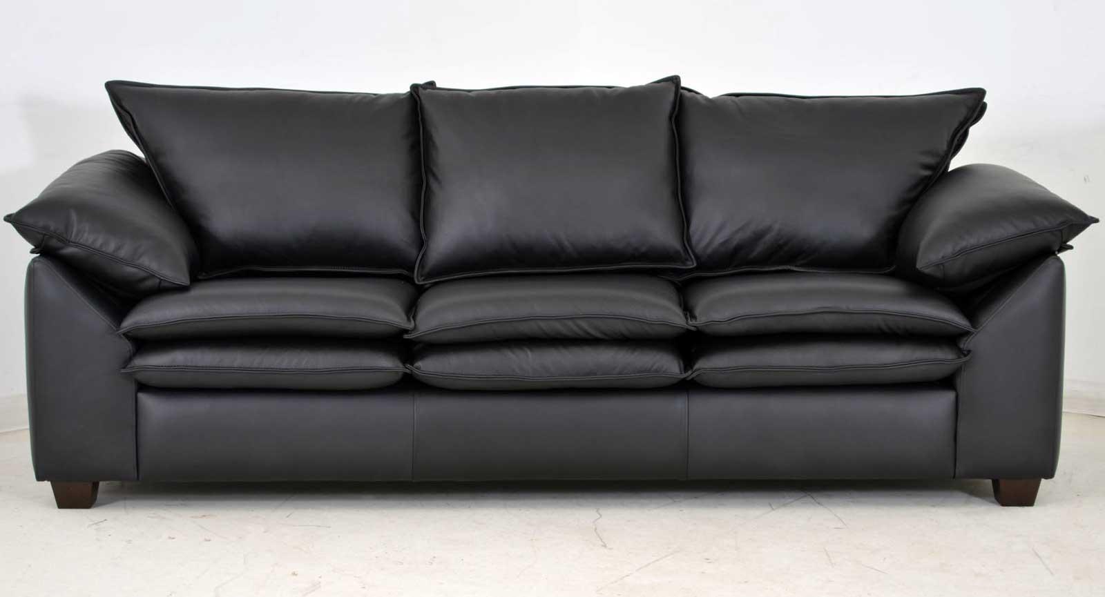 Three Cushion Sofa Black