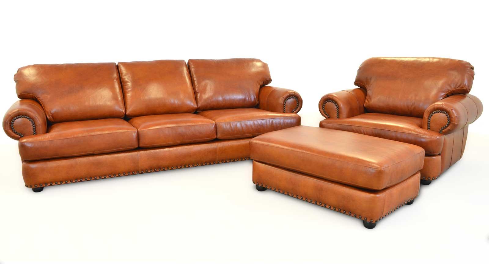 Three Seat Sofa Chair And Half Ottoman A