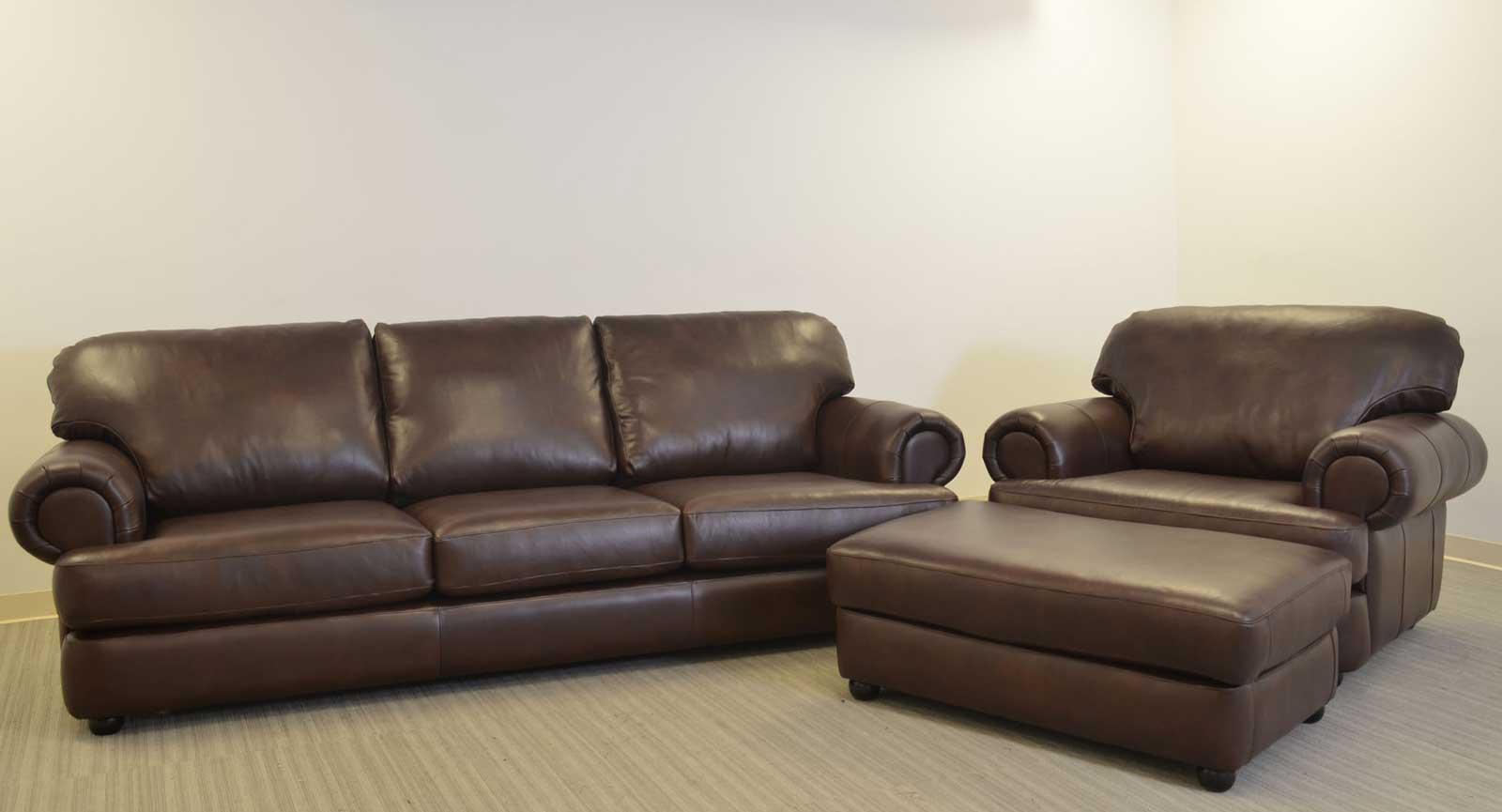 Three Seat Sofa Chair And Half Ottoman