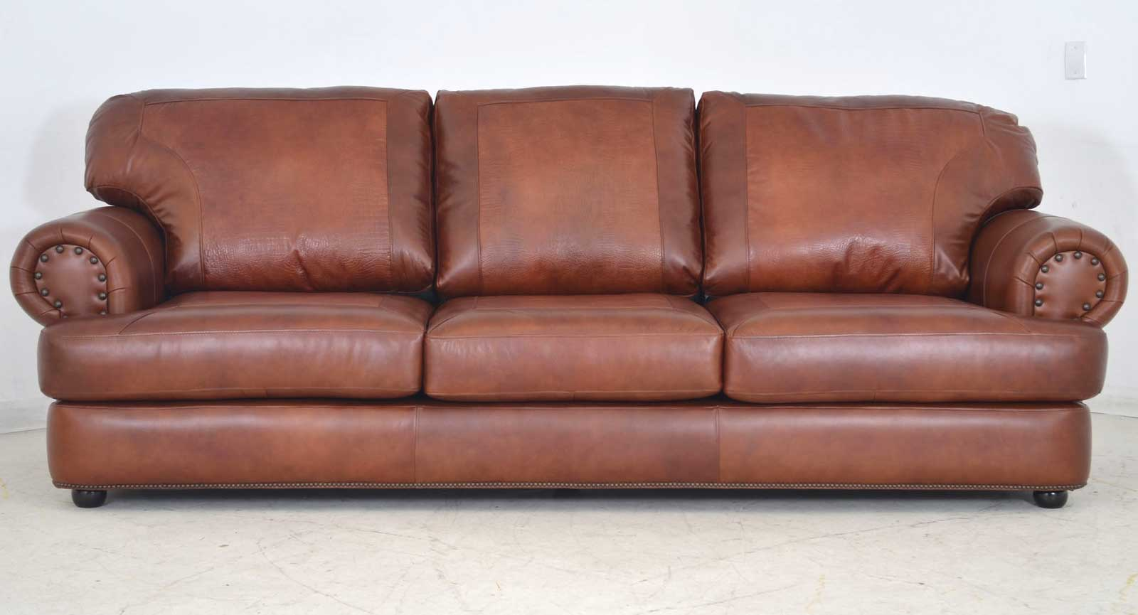 Three Seat Sofa Two Leathers